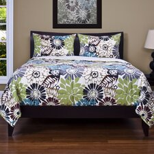 Blooming Bulb Harvest 3 Piece Quilt Set