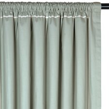 Vera Drapery Rod Pocket Curtain Single Panel