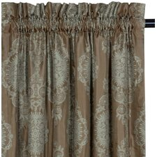 Marbella Dk Cotton Rod Pocket Curtain Single Panel
