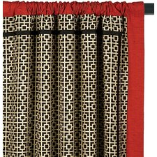 Sakura Cotton Rod Pocket Shoji Curtain Single Panel