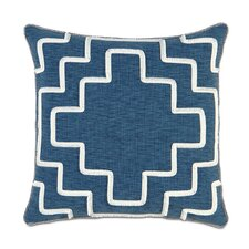 Ceylon Polyester Garrison Storm Decorative Pillow with Brush Fringe