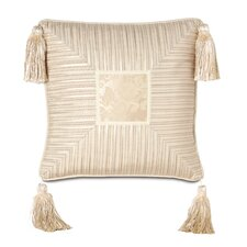 Charissa Polyester Mitered Decorative Pillow with Tassels