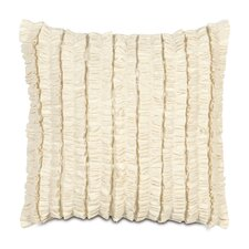 Breeze Mitered Polyester Decorative Pillow with Ruffles