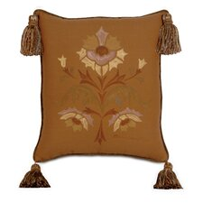 Fairmount Hand Painted Welt and Tassel Decorative Pillow