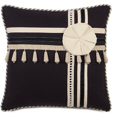 Evelyn Polyester Fullerton Ink Decorative Pillow with Trims
