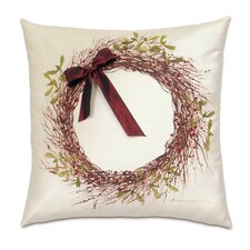 Deck The Halls Holly Wreath Decorative Pillow