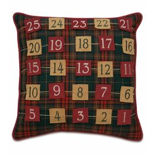 Home for The Holidays Advent Calendar Decorative Pillow