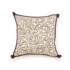 Tracery Polyester Decorative Pillow with Small Welt