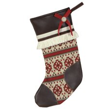 Nordic Holiday Winter Woolies Stocking