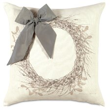 Dreaming of a White Christmas Wintry Wreath Pillow