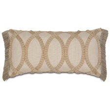 Rayland Polyester Vivo Decorative Pillow with Pleated Ribbon