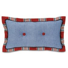 Carter Polyester Dune Denim Tufted Decorative Pillow