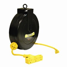 "14 AWG / 3 Cond x 30"" 13 AMP Triple Outlet Cord Reel"