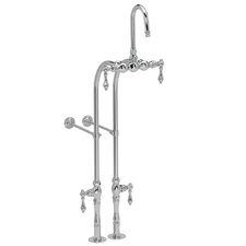 300 Series Floor Mount Clawfoot Tub Faucet