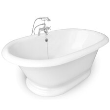 "Heritage 72"" x 42"" AcraStone Double Ended Bathtub"