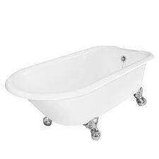 "Windsor 61"" x 31"" Cast Iron Bathtub with No Faucet Holes"