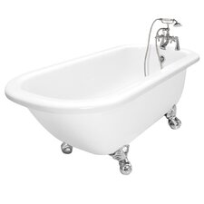 "Maverick 67"" x 30"" AcraStone Traditional Left Champagne Massage Bathtub"