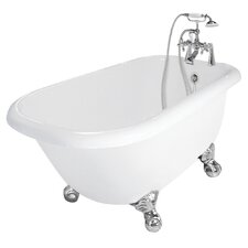 "Trinity 60"" x 30"" AcraStone Traditional Left Champagne Massage Bathtub"