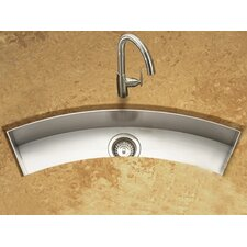 "Contempo 45"" x 13"" x 6"" Zero Radius Undermount Curved Trough Bar Sink"