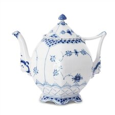 Blue Fluted Full Lace 34 Oz Teapot
