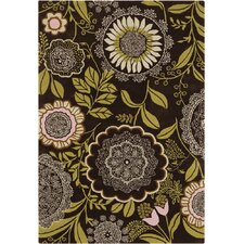 Amy Butler Lacework Brown/Green Rug