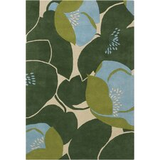 Amy Butler Field Poppy Green Rug