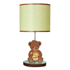 Honey Bear Lamp with Shade and Bulb