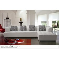 Litz Leather Sectional