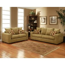 Slogan Microsuede Sofa and Loveseat Set
