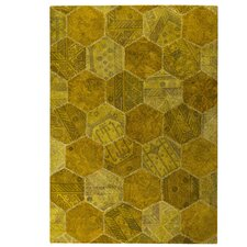 Honey Comb Siena Gold Rug