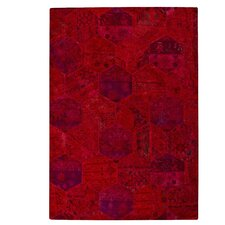 Honey Comb Siena Red Rug