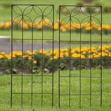 Set of Two Small Flower Trellises