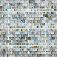 "Glass Expressions Micro 12"" x 13"" Blocks Accent Tile in Seaglass"