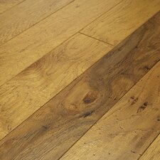 "Brushed Suede 4-1/2"" Engineered Hickory Flooring in Buckskin"