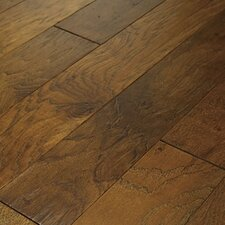 "Brushed Suede 5"" Engineered Hickory Flooring in Sugarcane"