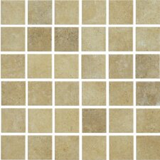 "Brushstone 12"" x 12"" Mosaic Tile Accent in Camel"