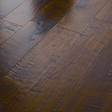 "Acadian Heights 6-3/8"" Engineered Handscraped Maple Flooring in Granite Shores"