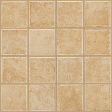 "Colonnade 12"" x 12"" Ceramic Floor Tile in Gold"