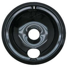 "8"" Style B Large Drip Pan in Black"