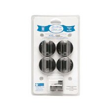 4 Piece Gas Range Replacement Knob Set in Black