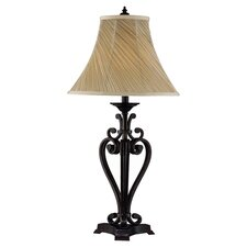 Ashton Scroll Table Lamp in Dark Bronze