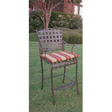 Santa Fe Wrought Iron Bar Height Patio Chair (Set of 2)