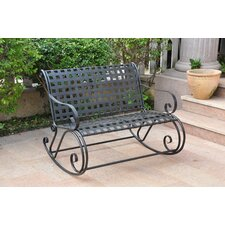 Iron Patio Scroll Double Rocking Chair