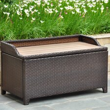 Barcelona Wicker Resin Storage Bench