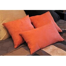 Micro Suede Bed Spread Pillow / Decorative Pillow (Set of 3)