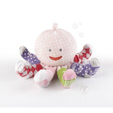 """Mrs. Sock T. Pus"" Plush Octopus with 4 Pairs of Socks in Pink"