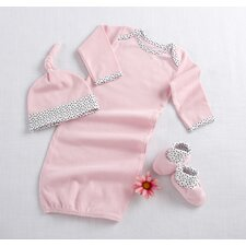 """Welcome Home Baby!"" 3 Piece Layette Set in Pink"