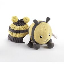 In the Garden Knit Bee Plush Toy and Knit Cap