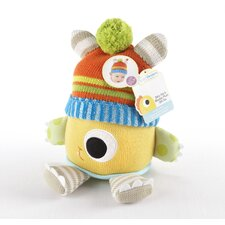 Closet Monsters Knit Baby Hat and Plush Toy Gift Set