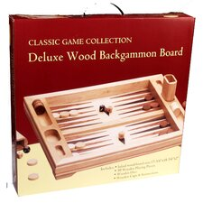 Deluxe Wood Table Top Backgammon